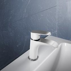 Monomando lavabo Dann blanco/cromo